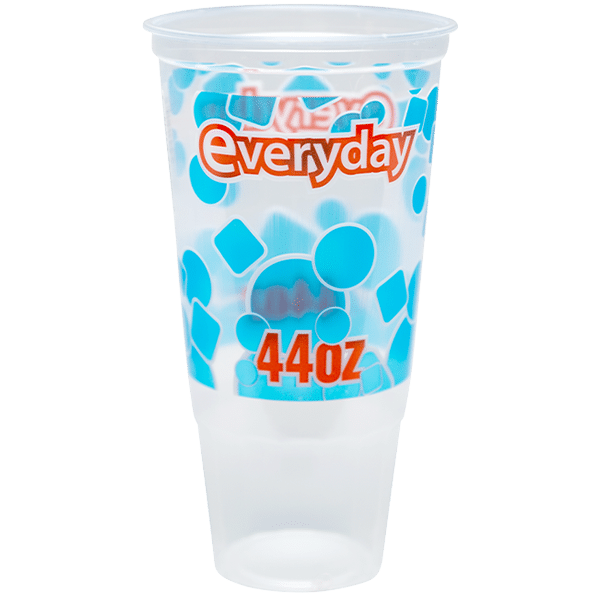 A photograph with label of the D4471 drink cup